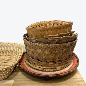 Wicker Basket Assortment Bundle
